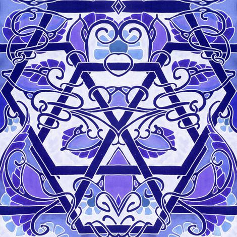 Boldly Twisting Blues fabric by edsel2084 on Spoonflower - custom fabric