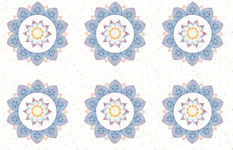 tiki lotus flower fabric by keweenawchris on Spoonflower - custom fabric