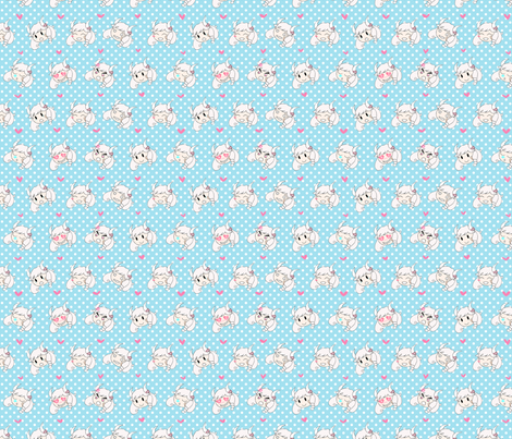 flashmoji -- blue fabric by milkdreams on Spoonflower - custom fabric