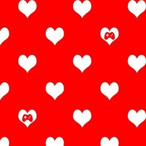 Gaming Hearts in Red and White
