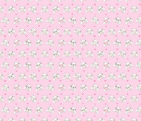 flashmoji -- pink fabric by milkdreams on Spoonflower - custom fabric
