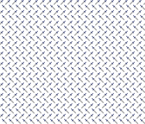 Pixel Swords on White fabric by geekygamergirl on Spoonflower - custom fabric