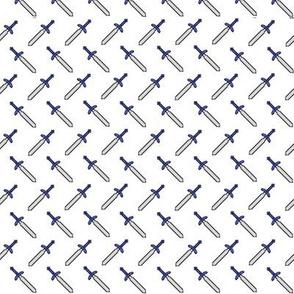 Pixel Swords on White