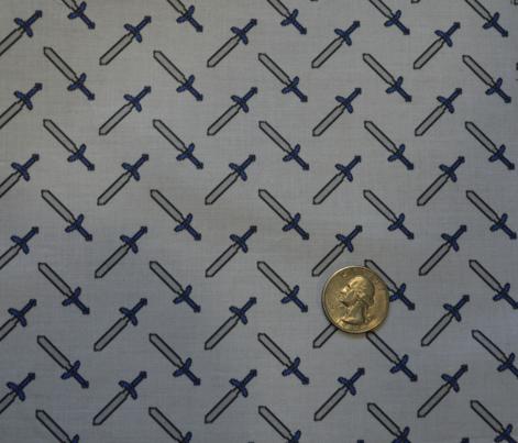 Pixel Swords on Gray