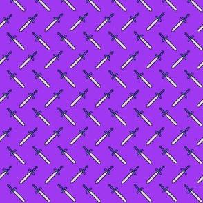 Pixel Swords on Purple