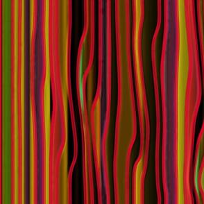 Nouveau Stripes Watercolour Red