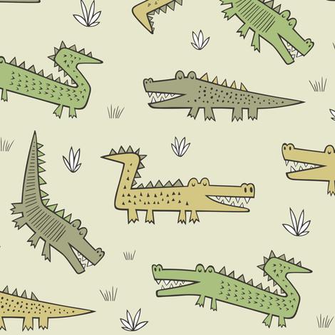 Alligators Crocodile fabric by caja_design on Spoonflower - custom fabric