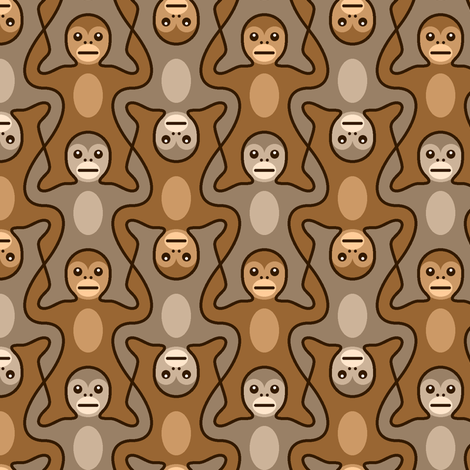 stacking monkeys 2 fabric by sef on Spoonflower - custom fabric