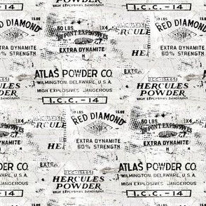 gun powder labels