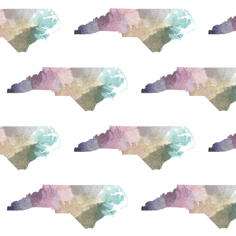 Watercolor NC fabric by thinlinetextiles on Spoonflower - custom fabric