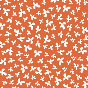 Quilted Petals in orange