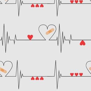 Heart Health Awareness - Light Gray (large)