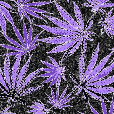 MJ Leaf Purple Dots fabric by camomoto on Spoonflower - custom fabric