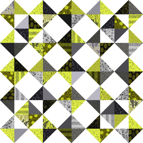 Trillian's Cheater Quilt - Black and Bright Yellow