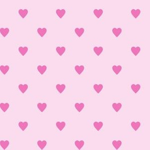 Dark Pink Hearts on Light Pink