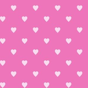 Light Pink Hearts on Dark Pink