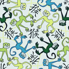 Year of the Monkey blue green