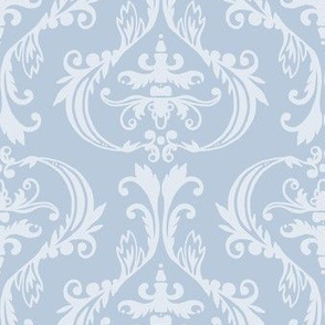 Damask in blues