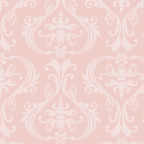 Damask in pinks fabric by lburleighdesigns on Spoonflower - custom fabric