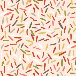 Confetti sprinkles pink background