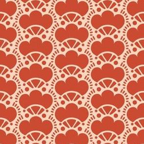 Boho mushrooms in red
