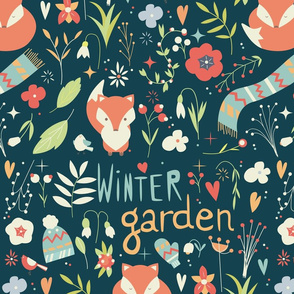 Winter garden pattern 001