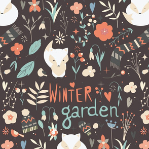 Winter garden pattern 003