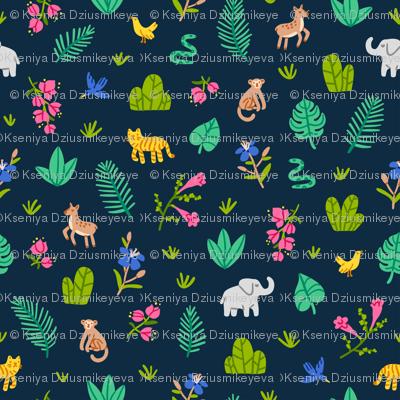 Jungle wildlife pattern