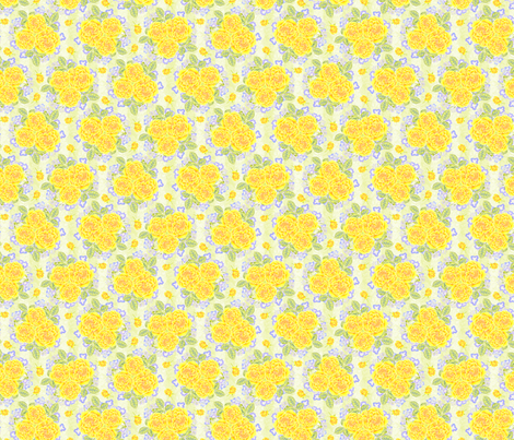 YellowRoseNosegay fabric by blairfully_made on Spoonflower - custom fabric