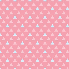 Geo Triangles - Blue and Coral
