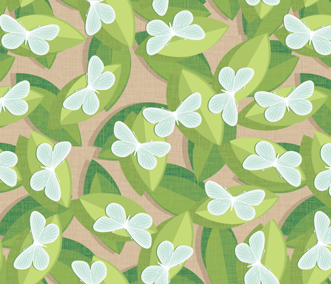 Wood White fabric by spellstone on Spoonflower - custom fabric
