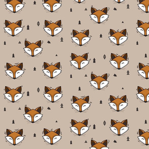 fox head // cute trendy hipster bear woodland kids nursery baby design