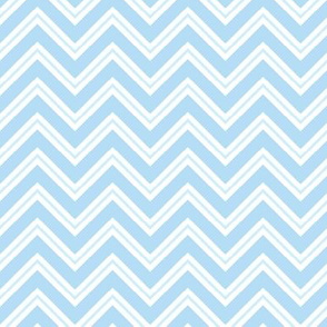 Blue Chevron - Blue and Coral