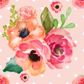 Floral Polka in Pink