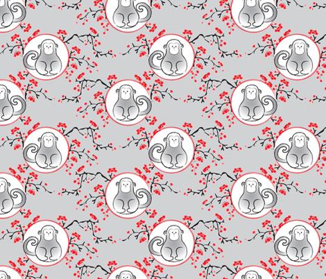 year of the monkey fabric by nissalynn on Spoonflower - custom fabric