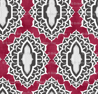 Arabesque Medallions Red