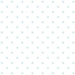 Polka Dots Blue on White Background