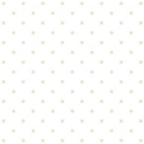 Polka Dots Green on White
