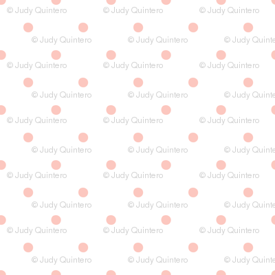 Pink Polka Dots on White Background