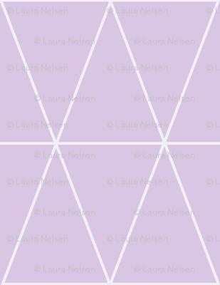 Geo Triangles- Lavender