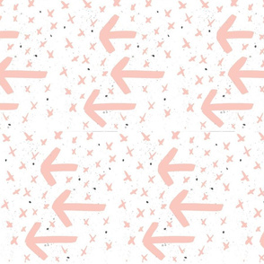 blush watercolor arrows - arrows and crosses