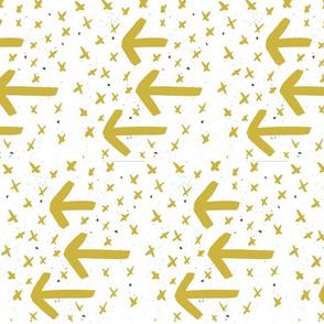 gold watercolor arrows - arrows and crosses