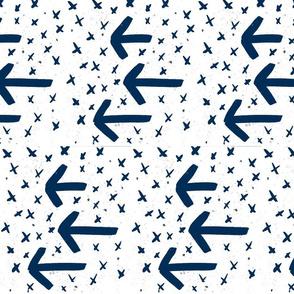 navy watercolor arrows - arrows and crosses