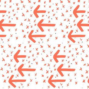 coral watercolor arrows - arrows and crosses