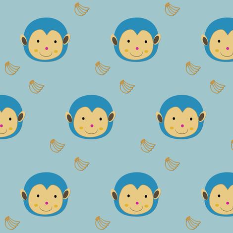 baby monkey fabric by bruxamagica on Spoonflower - custom fabric