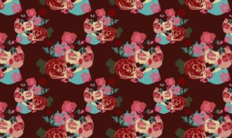 Pixel Bouquet fabric by katrina_ward on Spoonflower - custom fabric
