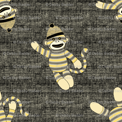 monkey scatter - yellow and black