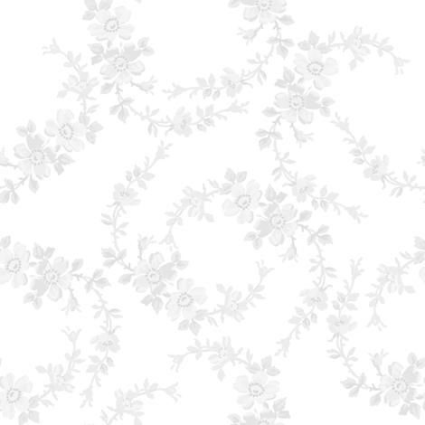 Lilla Wildflowers in fog fabric by lilyoake on Spoonflower - custom fabric