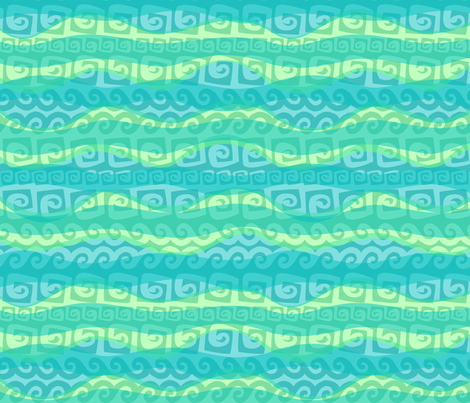 Tidal Tribal 9 fabric by madtropic on Spoonflower - custom fabric