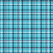 Plaid variant for Turquoise Blossom Collection